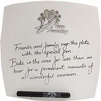 10th wedding anniversary signing plate