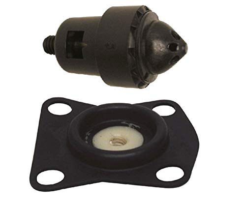 (GLM Thermostat & Valve Diaphragm Kit for Johnson Evinrude 3 Cylinder 1986-1992, V4, V6 & V8 90 Degree Looper 1985-1993, Replaces 394408, 434137)