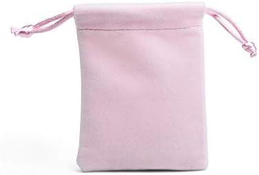 ギフトバッグ、50個 - トップグレードソフトソフトシリンダーぬいぐるみ素材、巾着ビーズキャンディジュエリーバッグ、パーティー/結婚式/クリスマスギフトバッグ、ピンク v (Size : 10*12CM)