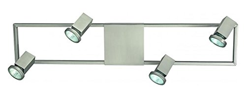 Matte Nickel Zeraco 4 Light 27.5in. Long Track Light with Adjustable Heads
