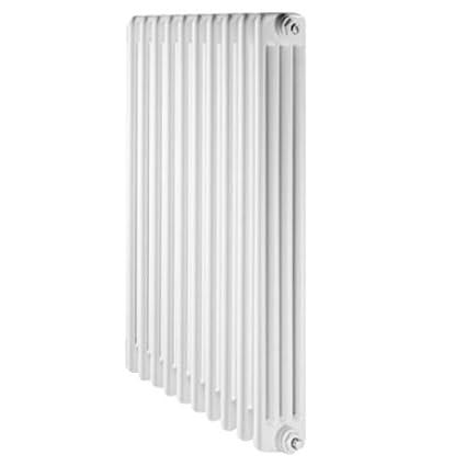 De Longhi Radiador Acero Tubular 4 Columnas 870 DL 6 Elementos, Color Blanco