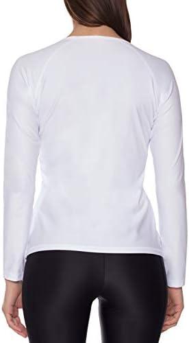 iQ-Company 300 Shirt koszula damska z krÓtkim rękawem, ochrona przed promieniowaniem UV, biały, XS: Odzież