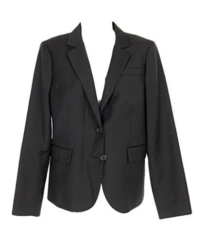 J Crew Tailored Blazer in Italian Super 120s Wool Women's Black Sz 10 G8641