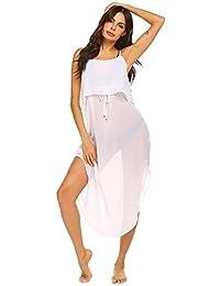 Meaneor Women's Swimsuit Beach Cover Up Shirt Bikini Beachwear Bathing Suit Beach Dress