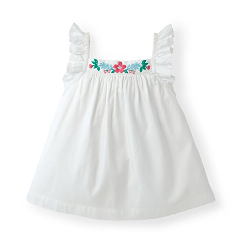 Hope & Henry Girls' Frill Sleeve Embroidered Top