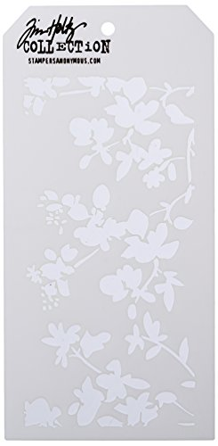 Blossoms Time (Stampers Anonymous Tim Holtz Layered Blossom Stencil, 4.125