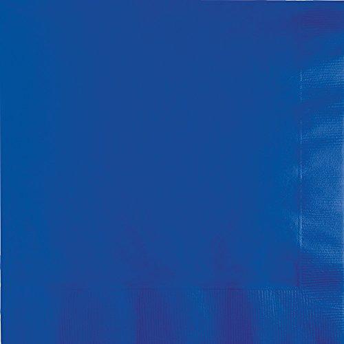 Creative Converting 319024 Cobalt Beverage Paper Napkin, 5