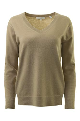 Vince Women's Weekend V-Neck Sweater Camel X-Small