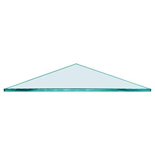TroySys b'Triangle Glass Shelf 12 x 12'