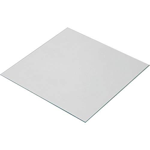 Wisamic Lecho termico de vidrio borosilicato transparente 220x220x3mm para impresoras 3D MK2 / MK2A, Anet A8, Anet A6, Reprap, Mendel