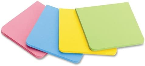 Post-it F2208SSAU Super Sticky Notes, Full Adhesive, 2-Inch x2-Inch, 8/PK, Asst Bright