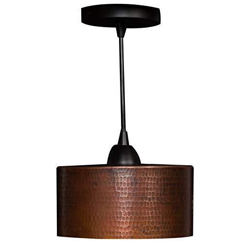 Copper Pendant Light (Premier Copper Products Hand Hammered Copper 8