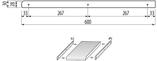 ABSCHLUSSLEISTE Winkelleisten Seiteleiste Arbeitsplatte Alu k/üche endeleiste L+R 28mm