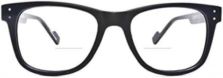 Retro Eyeworks Superflex Wayfarer Bifocal Anti-glare Reading Glasses 51-19 MM 2.0x Black