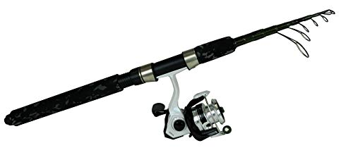 Okuma Fishing Tackle VSE-601ML-20-T Voyager Express Travel Kit Telescopic Spinning Combo, Forest Green