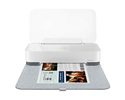HP Tango X Smart Home Printer with Indigo Linen cover - Designed for your Smartphone with Remote Wireless Printing, Instant Ink Ready and works with Alexa (3DP64A)