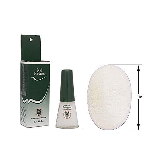 Formaldehyde Nail Hardener - Quimica Alemana. Esmalte Endurecedor Para Unas (1Pack) with Loofah pad