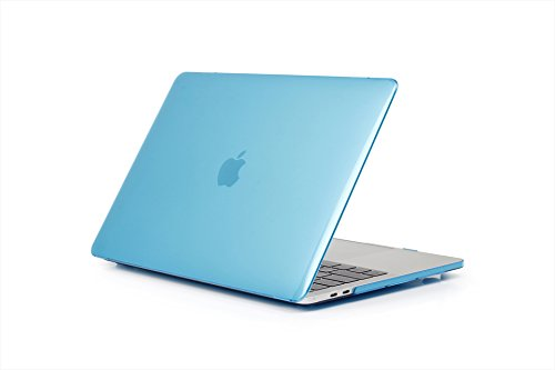 Price comparison product image Businda MacBook Air 13 Inch Plastic Hard Cases and Covers for Models A1369 and A1466 - Light Blue