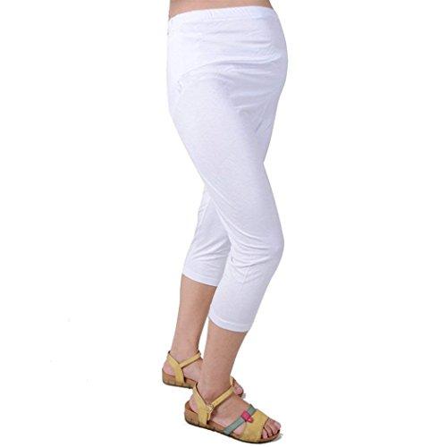 Pantaloni Estivi 3 Comodo marca Gravidanza Leggero Tempo BOLAWOO Mode Donna Premaman Leggins Pantaloni Bianca Monocromo Pantaloni 4 Libero Gravidanza Pantaloni di Premaman Pantaloni qnxO7tI