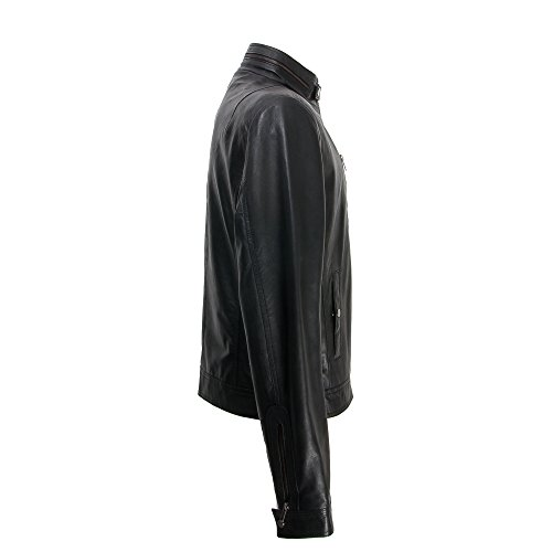Giacca Giacca Zerimar Giacca di da Cuoio Nero Pelle da Uomo vento in Giacca Pelle Uomo Giacca di a vUqwyAvrP