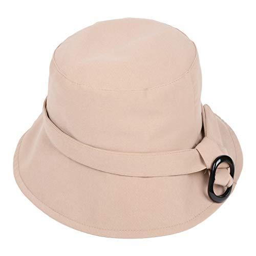946f0234100b4 SCHOLIEBEN Unisex Solid Color Bucket Bench Hat Boonie Fishing Outdoor Cap  Beige  Amazon.co.uk  Clothing