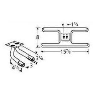 Music City Metals 10502-708LR Stainless Steel Burner Repl...
