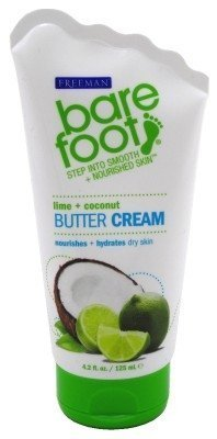 Freeman Bare Foot Butter Lime + Coconut 4.2 Ounce (124ml) (2 Pack) by Freeman