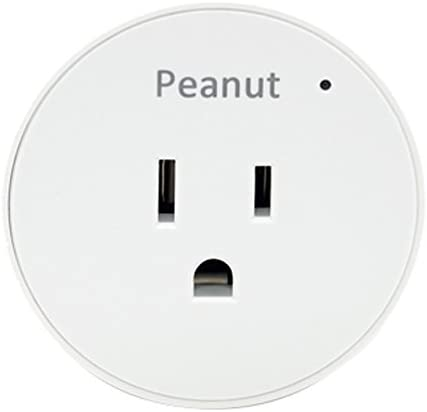 Securifi Peanut Smart Plug 1 Minute Setup – Remotely Monitor and Control Lights Appliances using Free iOS Android Apps and Browser Interface – White