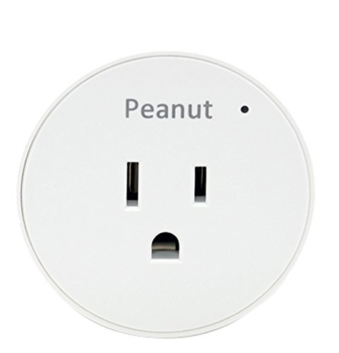 Securifi Peanut Smart Plug (1 Minute Setup), NEEDS Almond (read below for compatible units), Remotely Monitor and Control Lights Appliances using Free iOS/Android Apps, Works with Alexa