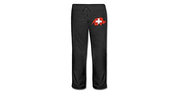 100/% Cotton Switzerland Map Running Pants Nm56kL/&KU Women Athletic Sweatpants