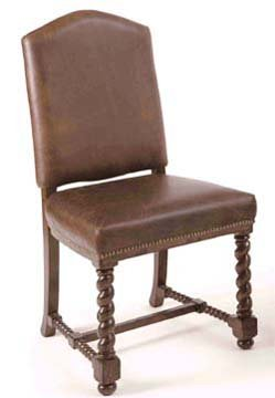 Eddie Bauer Lakeridge Leather Seat Side Chair By Lane Furnit