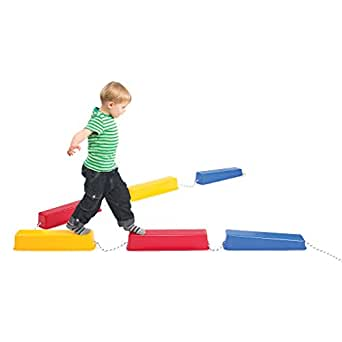 Edx Education Step-a-Logs - in Home Learning Supplies for Physical Play - Indoor and Outdoor - Exercise and Gross Motor Skills - Stackable - Build Coordination