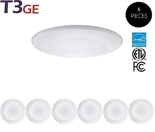 T3 Green Energy 6 Inch Dimmable LED Disk Light Flush Mount Ceiling Light 15W 5000K Natural White Commercial or Residential (6pack)