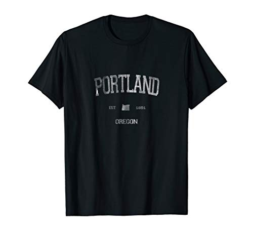 Classic Portland Oregon OR State Vintage Sports Style T-Shirt (Best Seafood In Portland Oregon 2019)