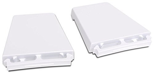 Price comparison product image Refrigerator or Freezer Door Shelf End Cap Kit (Set of 2) New OEM Whirlpool Model