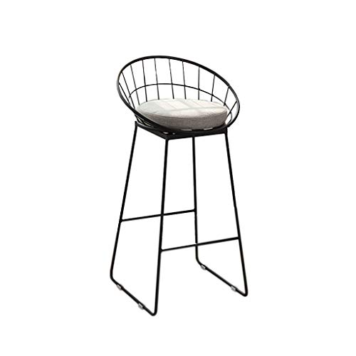 Home Decoration Nordic Wrought Iron Fashion Bar Stool Chair Black Home Kitchen Casual Cafe Front Desk High Stool (Sitting Height: 45/65/75cm) Modern Minimalist - Wrought Bar Iron Tall Stools
