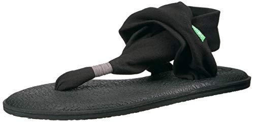 Sanuk Women's Yoga Sling 2 Flip Flop,Black,8 M US (Best Way To Avoid Getting Pregnant)