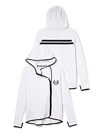 Victoria's Secret PINK High/Low Hoodie White at Amazon Women's ...