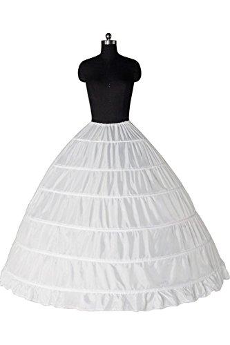 MisShow Full A Line 6 Hoop Petticoat Floor Length Bridal Dress Gown Slip Corset Wedding Dresses