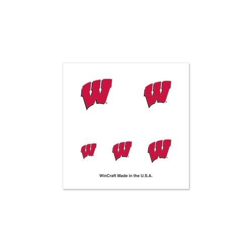 NCAA University of Wisconsin Fingernail Tattoos, Black