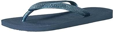 Havaianas Women's Top Tiras Sandal Flip Flop, Blue, 35 BR/6 W US