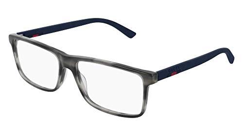 Gucci GG 0424O 007 Grey Havana Plastic Rectangle Eyeglasses 58mm