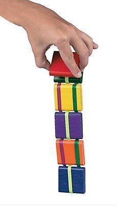 (OTC Assorted Wooden Flip Klik Klak JACOB'S LADDER toy flipping Game)