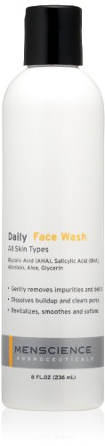 MenScience Androceuticals Daily Face Wash, 8 Fl Oz