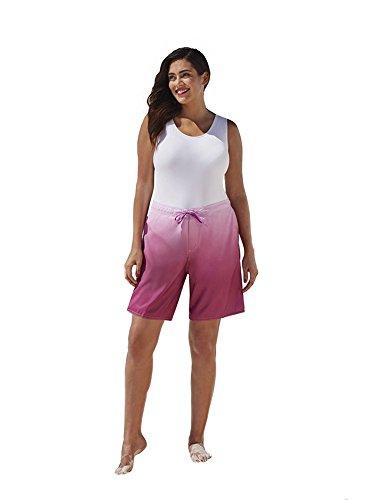 Swimsuitsforall Women's Ombre Long Board Short 16 Purple