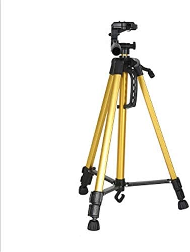 Color : Yellow Camera Accessories Portable Phone Live Selfie 3366 Tripod Stand DV SLR Camera Self-Timer Full Light Bracket Silver