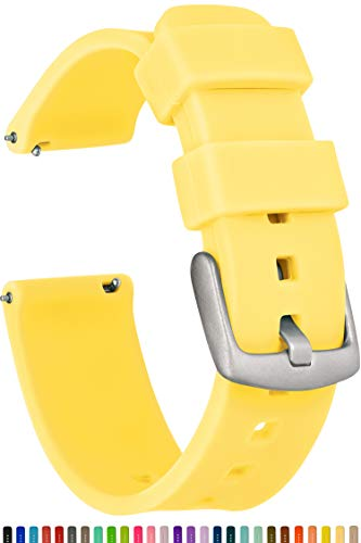 GadgetWraps 20mm Gizmo Watch Silicone Watch Band Strap with Quick Release Pins – Compatible with Gizmo Watch, Amazfit, Samsung, Pebble – 20mm Quick ...
