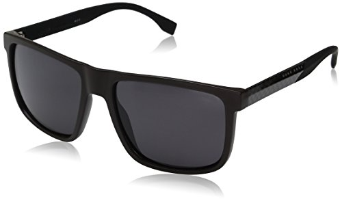 BOSS-by-Hugo-Boss-Mens-B0879s-Rectangular-Sunglasses-BrownSmoke-Polarized-57-mm