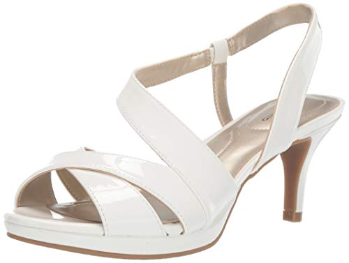 Bandolino Footwear Women's Kenosha Heeled Sandal, White, 9 Medium ()