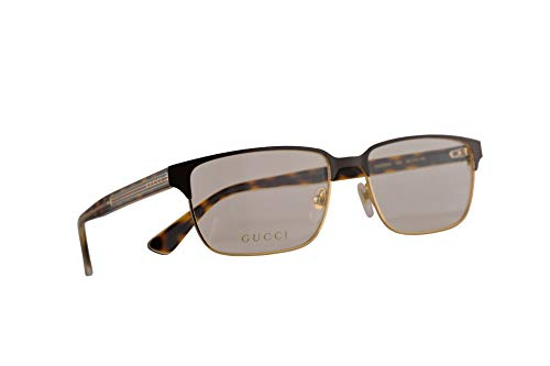 Gucci GG0383O Eyeglasses 58-17-145 Brown Havana w/Demo Clear Lens 005 GG 0383O